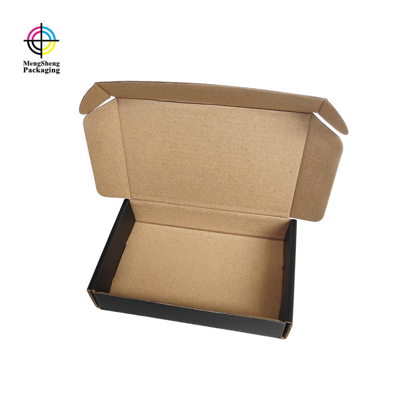 Wholesale custom black shipping boxes foldable cardboard boxes