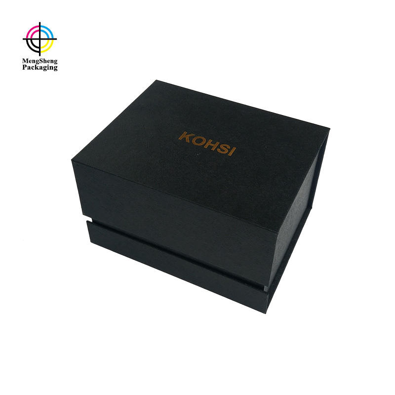 Custom luxury book shaped magnetic gift box with printed tissue paper