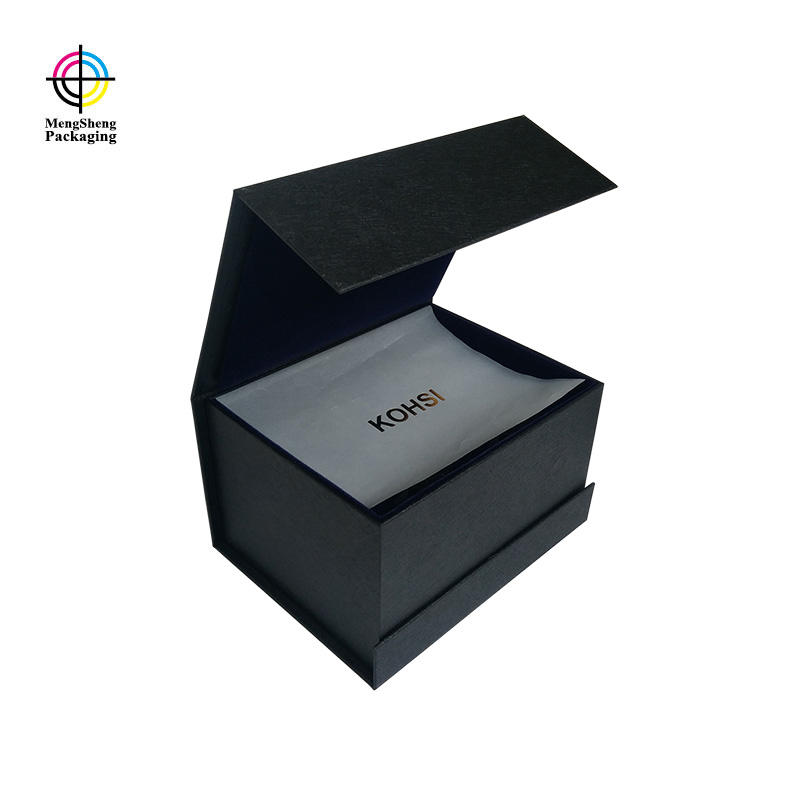 Custom Luxury Book Shaped Security Box Magnets With Printed Tissue Paper