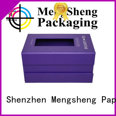 Mengsheng latest magnetic inbox corrugated for toy storage