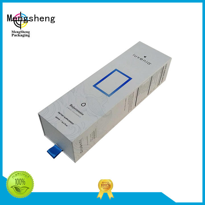 Mengsheng logo printing paper drawer box customized colors at discount