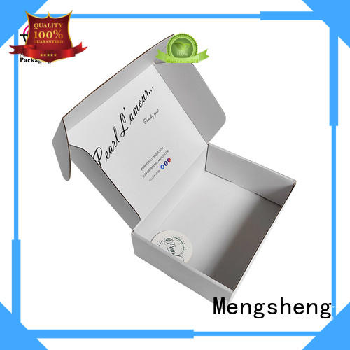 Mengsheng round tube corrugated box price double sides convenient