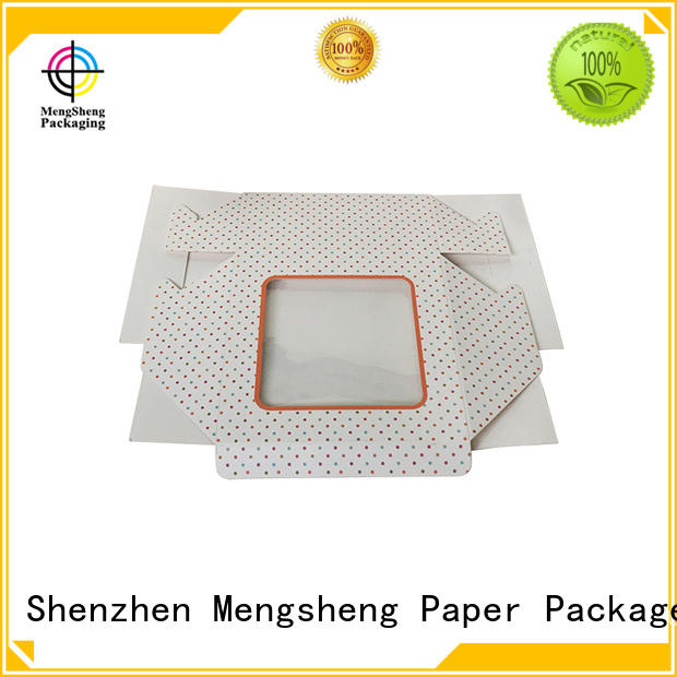 Mengsheng cosmetic packaging custom boxes free sample with ribbon