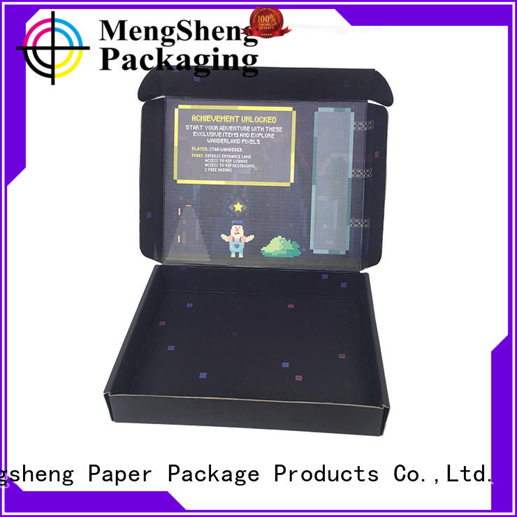 Mengsheng cosmetic packaging custom boxes pink colour ectronics packing