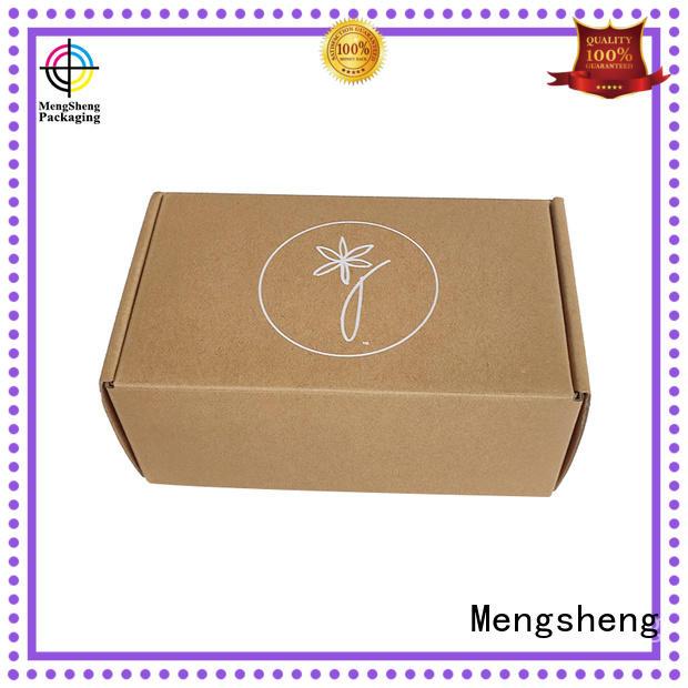 Mengsheng natural kraft paper corrugated suppliers printed cardboard custom design