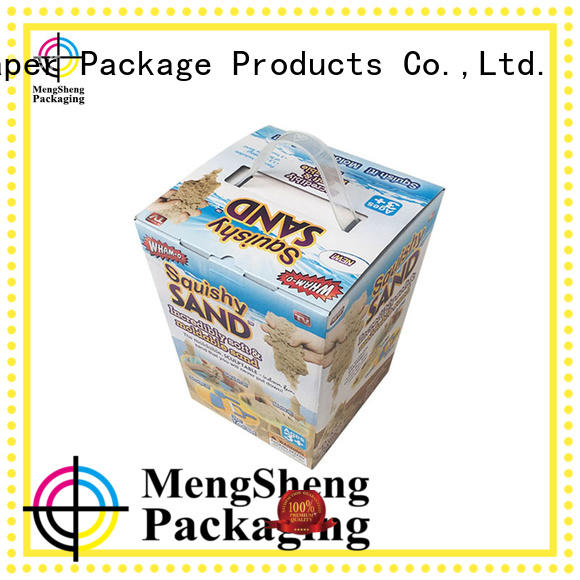 Mengsheng cheapest price toy packaging on-sale with ribbon