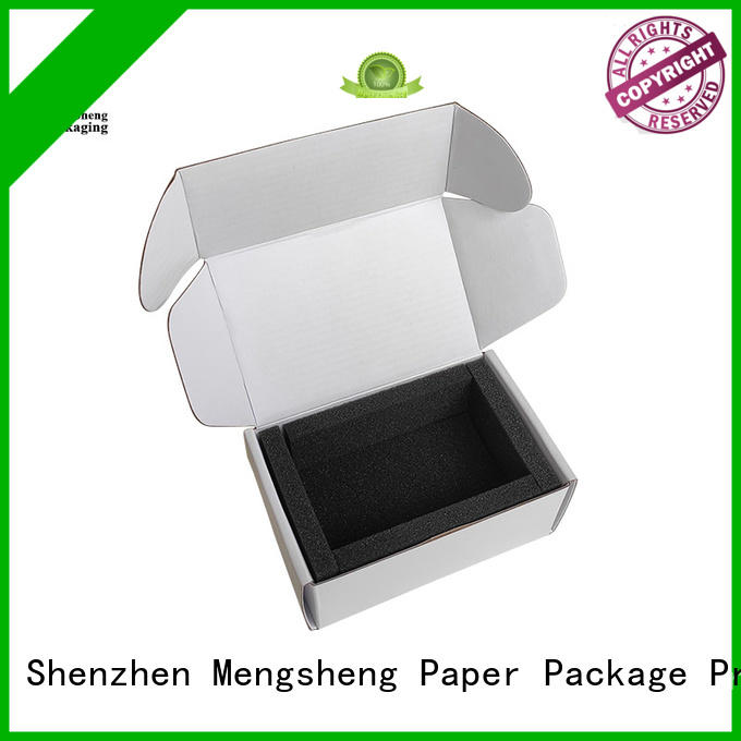multifunctional free cardboard boxes logo printed garment packing Mengsheng