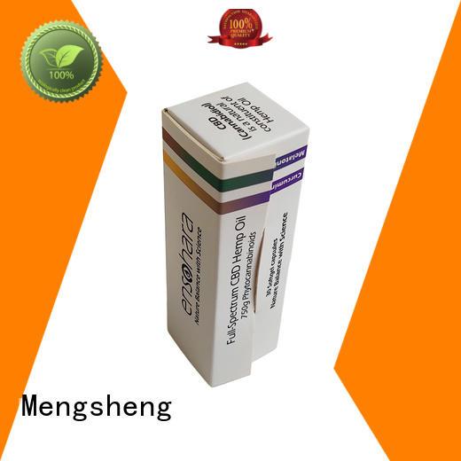 Mengsheng waterproof custom cosmetic boxes at discount top brand