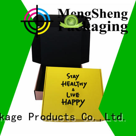 Mengsheng corrugated branded packaging boxes double sides eco friendly