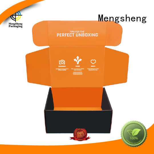 custom shipping box strong convenient Mengsheng