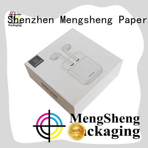 Mengsheng ecofriendly card box with lid ribbon design for wholesale
