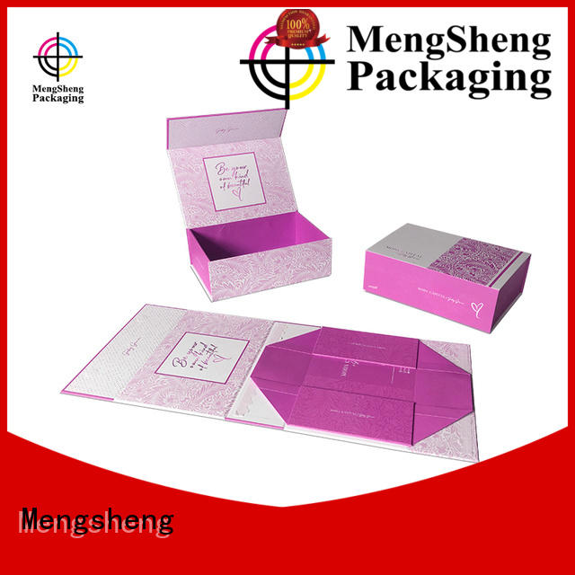 Mengsheng waterproof folding box design easy closure garment packing