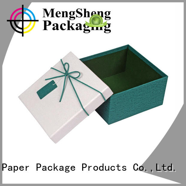 Mengsheng handmade 2 piece box rectangular chocolate packing