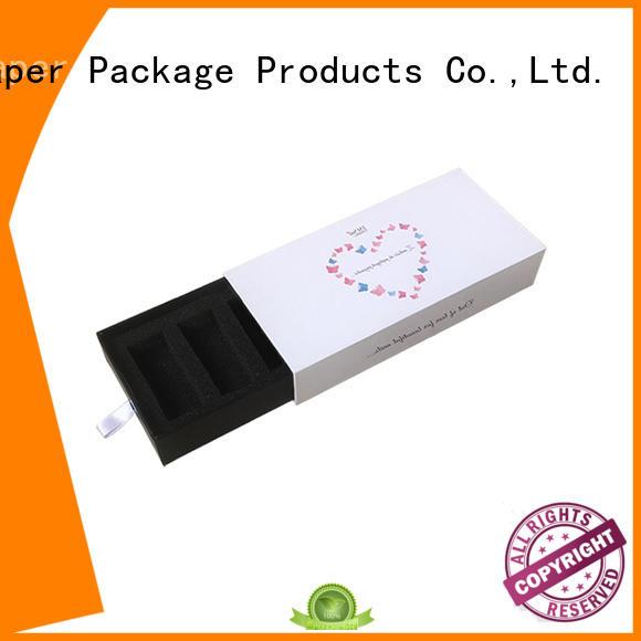 logo printing kraft slider box wholesale with ribbon latest deisgn