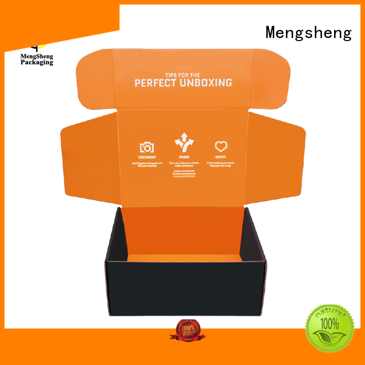 Mengsheng high quality corrugated packaging printed cardboard convenient
