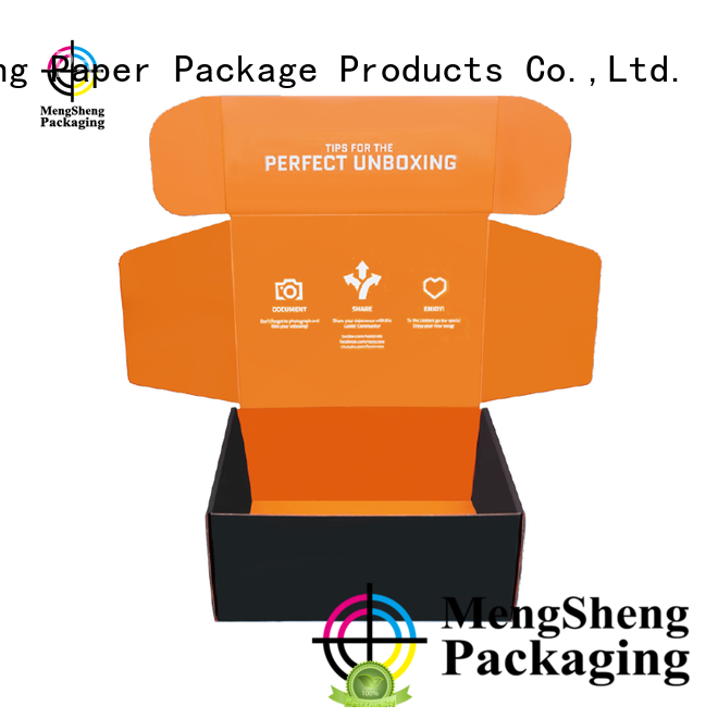 Mengsheng strong branded boxes and packaging shoes packing convenient
