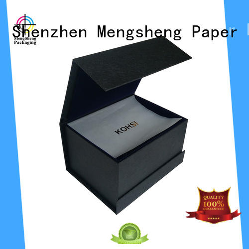 Mengsheng clear window flip top magnetic box latest with lid
