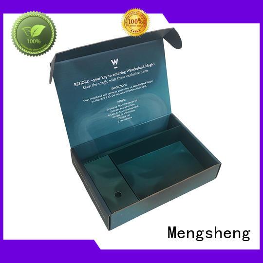 Mengsheng logo cardboard wine box easy closure for florist