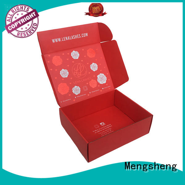 pink colour custom boxes at discount ectronics packing Mengsheng