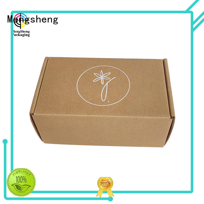 Mengsheng printing mailing box shoes packing custom design