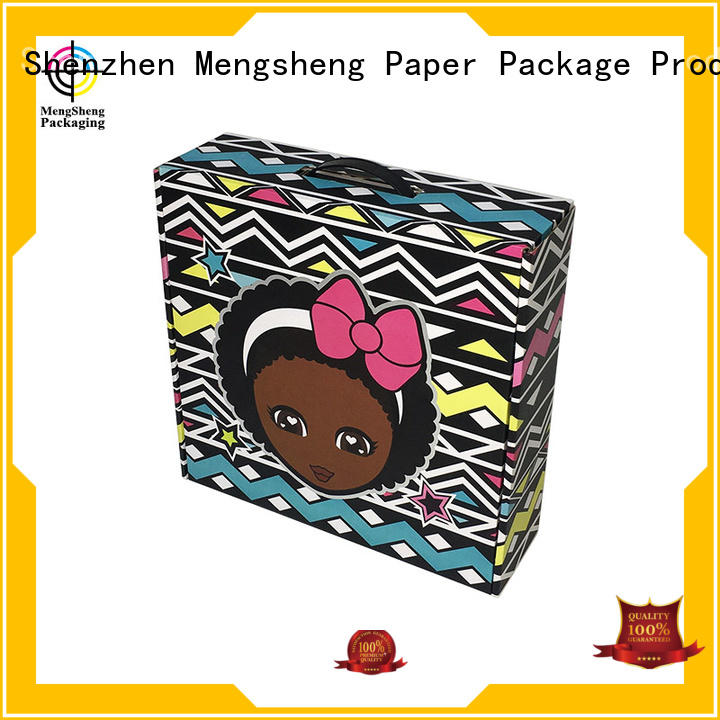 Mengsheng natural kraft paper plain corrugated box clothing packing custom design