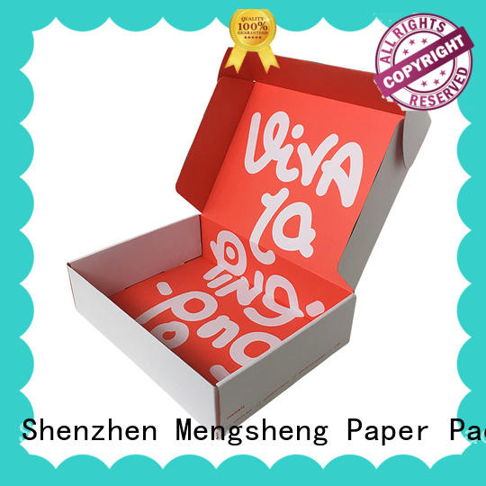 Mengsheng pvc window buy plain gift boxes corrugated cardboard with handle
