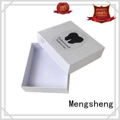 Mengsheng cosmetics packaging small cardboard boxes with lids for gifts sturdy jewelry packing