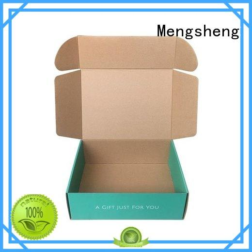 Mengsheng wine bottles printed corrugated box manufacturers shoes packing convenient