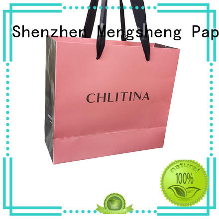 wholesale bulk paper bags printing on-sale with ribbon