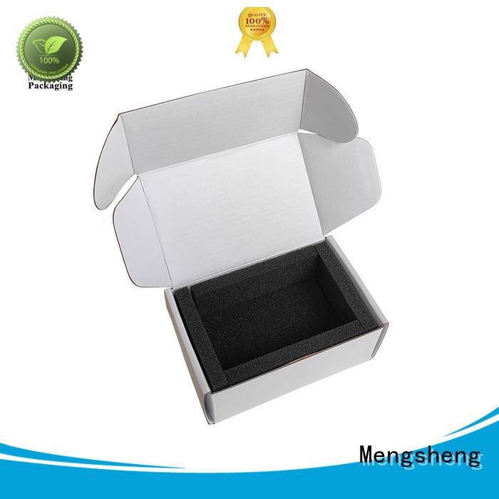 Mengsheng hot-sale free cardboard boxes festival garment packing
