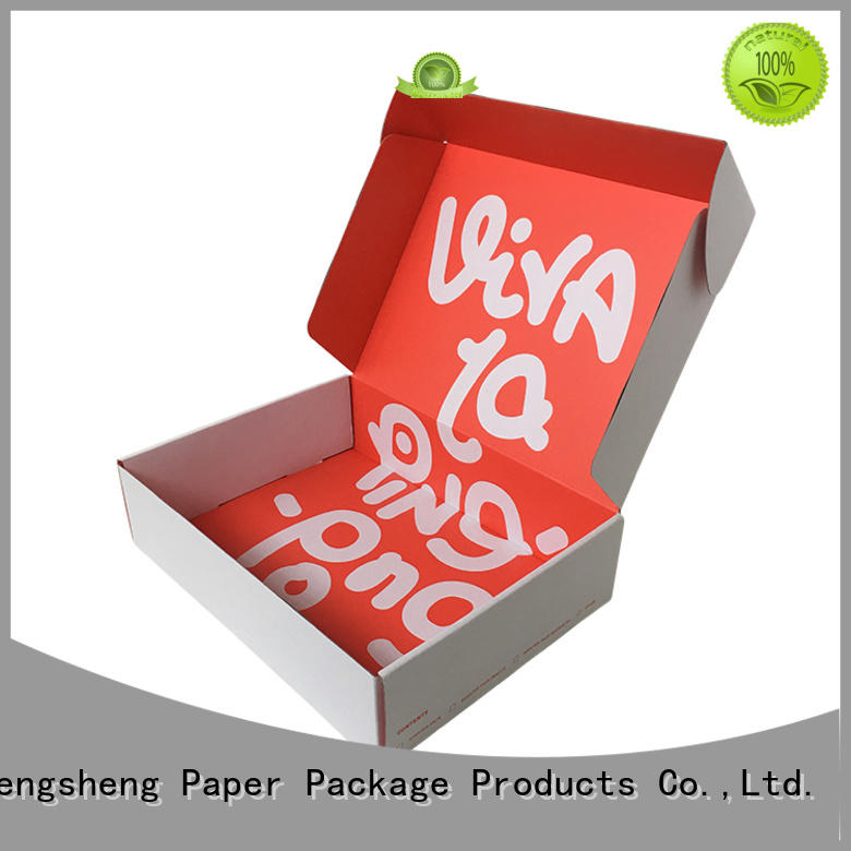 printing design custom boxes pink colour with ribbon Mengsheng