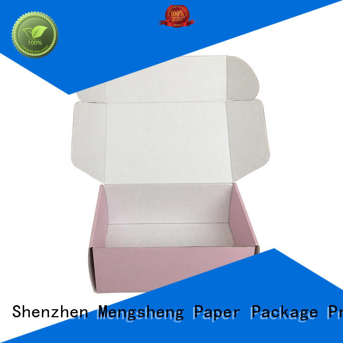 New black box with lid pink colour for business ectronics packing