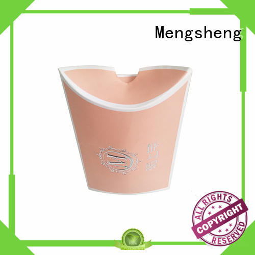 Mengsheng pink colour Gift Boxes Wholesale corrugated cardboard with handle
