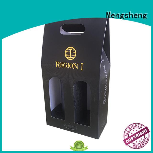 Custom cardboard wine bottle gift box with printing design