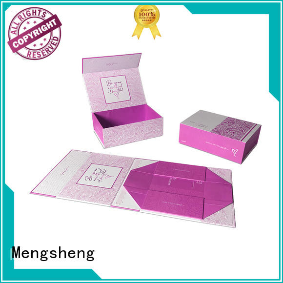 Mengsheng folding folding card box easy closure for florist