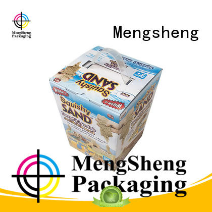 Mengsheng packaging custom toy box free sample with ribbon
