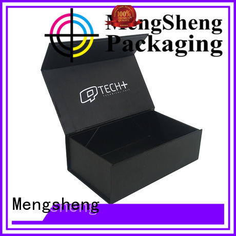 Mengsheng latest magnetic gift box printing for toy storage