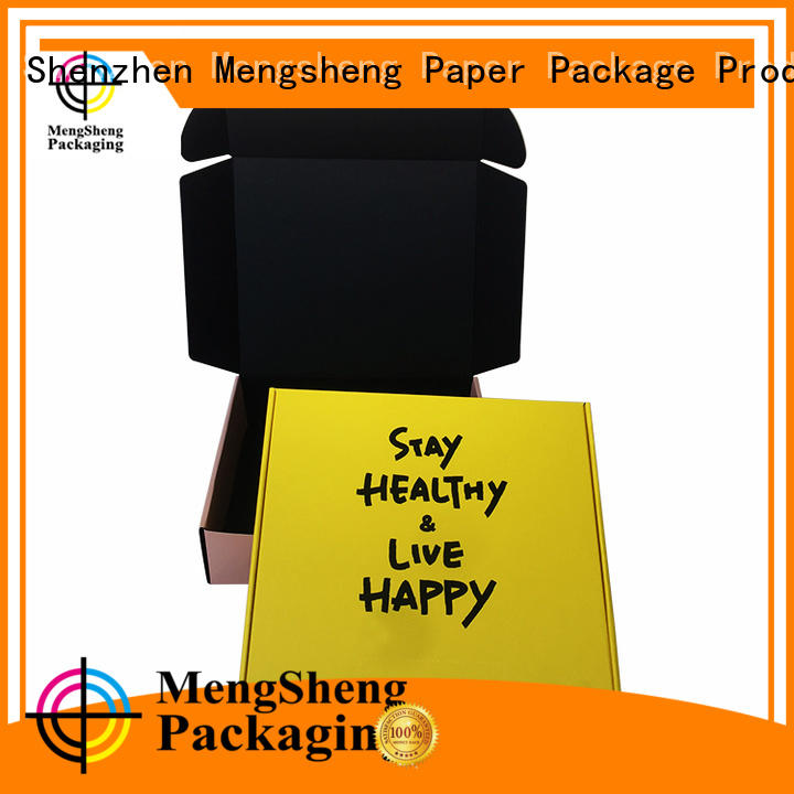 Mengsheng natural kraft paper corrugated carton box printed cardboard eco friendly