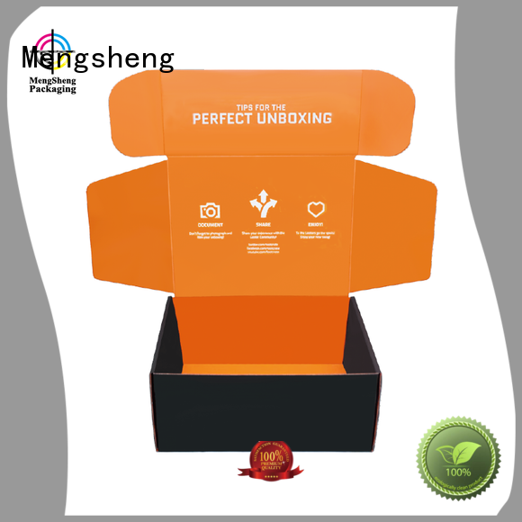 stamping custom retail boxes with logo corrugated eco friendly Mengsheng
