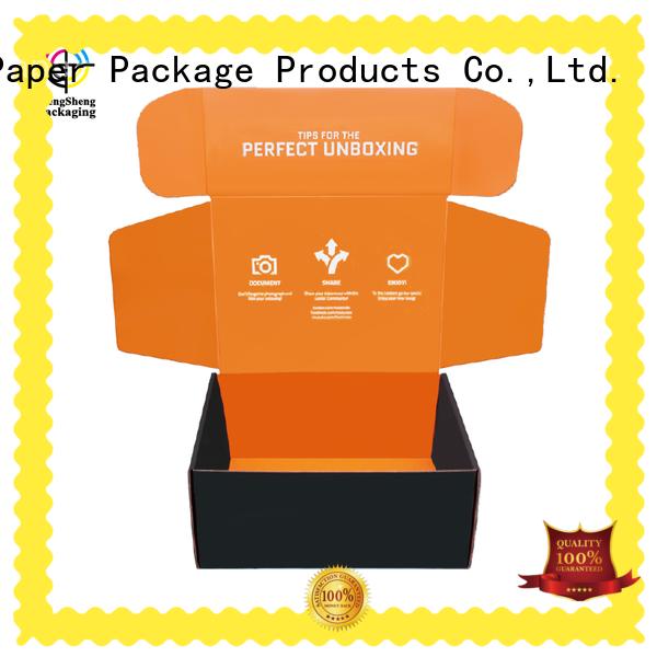 Mengsheng natural kraft paper mailer box double sides eco friendly