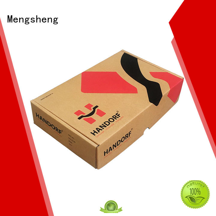 corrugated custom logo printed boxes custom design Mengsheng