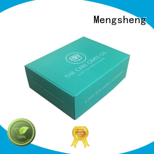 strong custom retail boxes with logo printed cardboard custom design Mengsheng