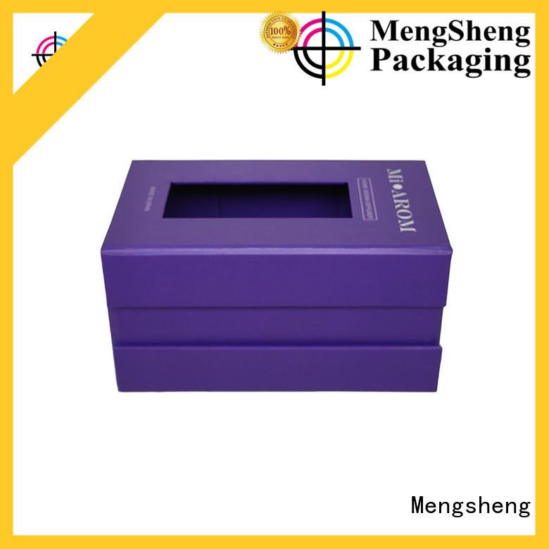 Mengsheng removable black magnetic box corrugated clothing shipping