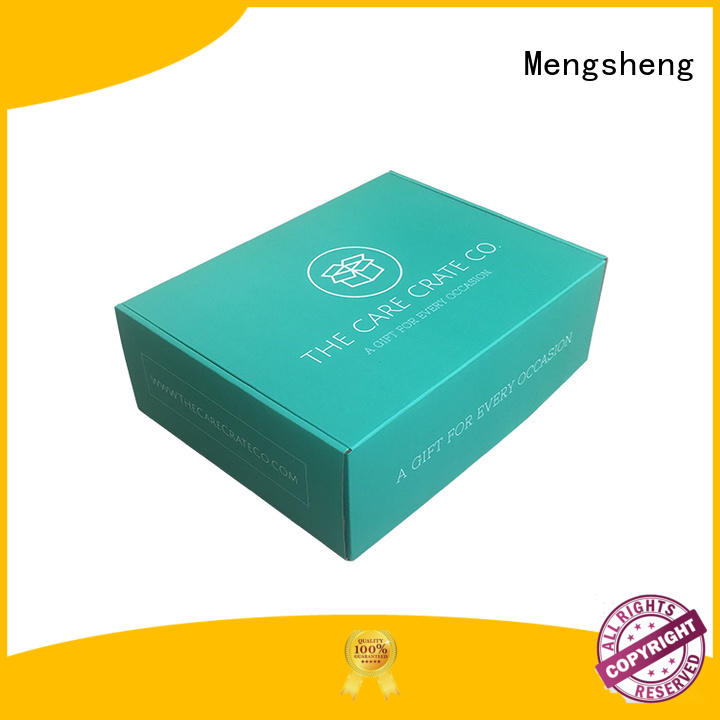 stamping branded boxes and packaging double sides convenient Mengsheng
