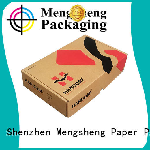 Mengsheng stamping corrugated box maker clothing packing custom design