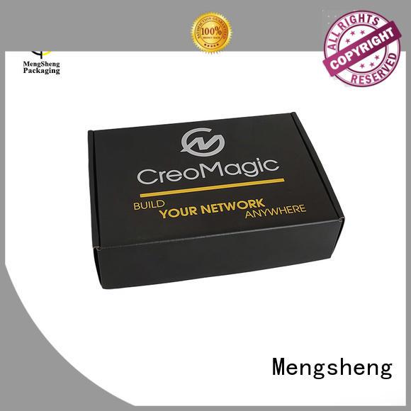 Mengsheng durable cardboard paper box logo printed for florist