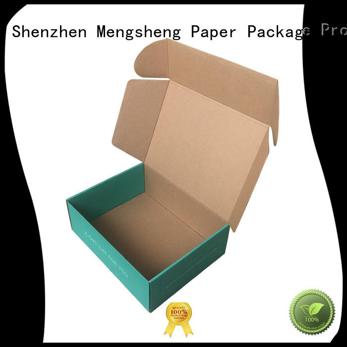 Mengsheng natural kraft paper plain corrugated box shoes packing eco friendly