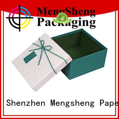 ecofriendly lidded cardboard boxes stamping chocolate packing Mengsheng