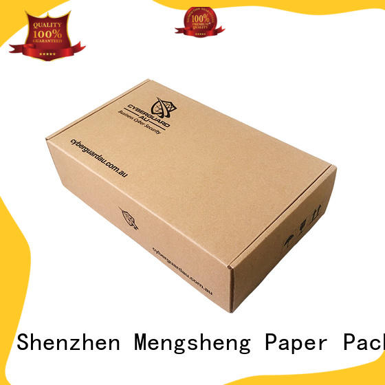 shopping custom boxes corrugated cardboard with ribbon Mengsheng
