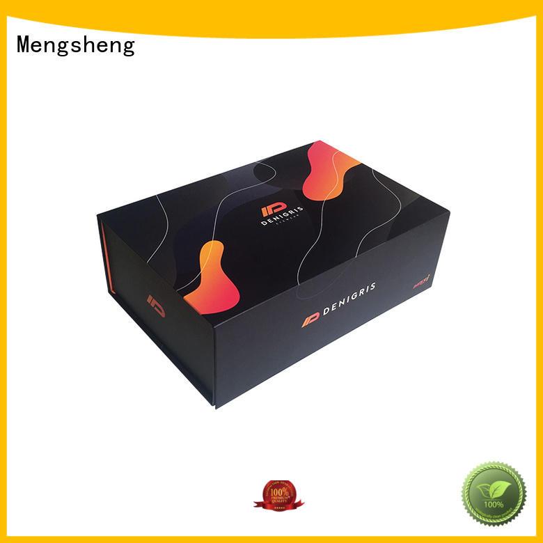 Mengsheng durable folding boxes logo printed for florist